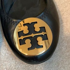 Tory Burch Shoes - Tory Burch size 6 black leather ballet flats
